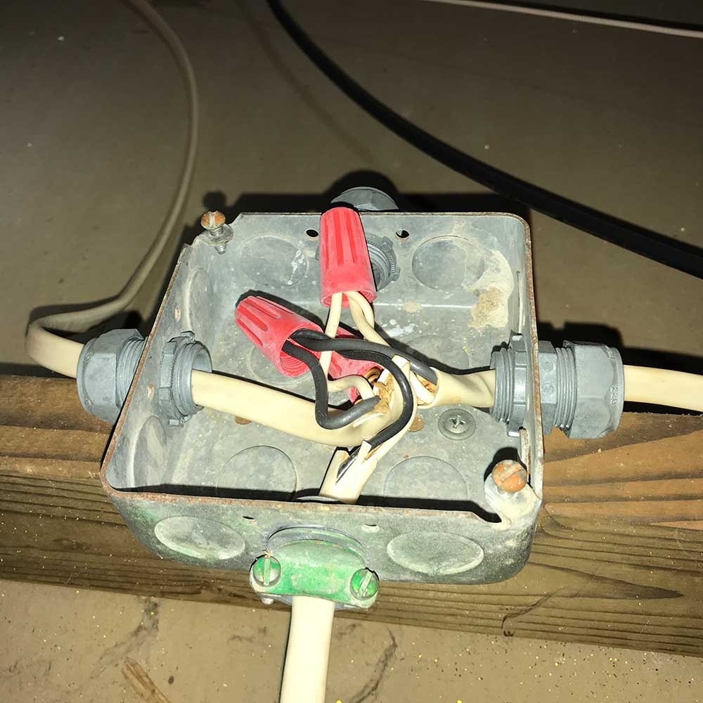 image of electric junction box during home inspection